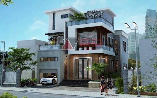 thiết kế nhà 3 tầng mặt tiền rộng 10m-anh-hoang