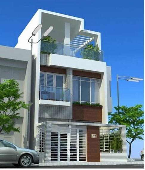 thiết kế nhà 3 tầng mặt tiền rộng 6m - Tư vấn  thiết kế nhà phố mặt tiền 6m