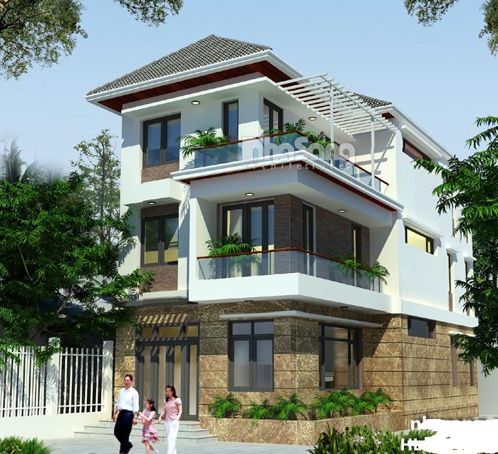 thiết kế nhà 3 tầng mặt tiền rộng 7m
