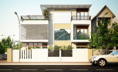 thiết kế nhà 3 tầng mặt tiền rộng 9m