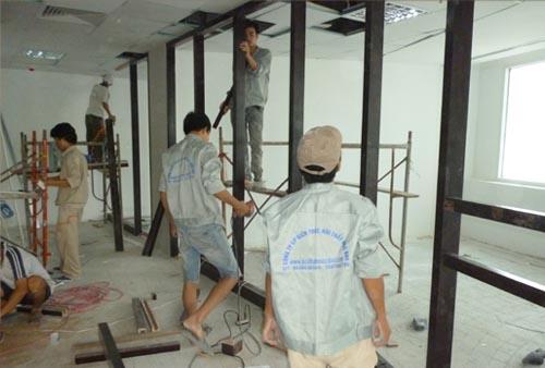 thi cong noi that phong khách - Viet Achitect- Công ty thiết kế nội thất tại Đà Nẵng