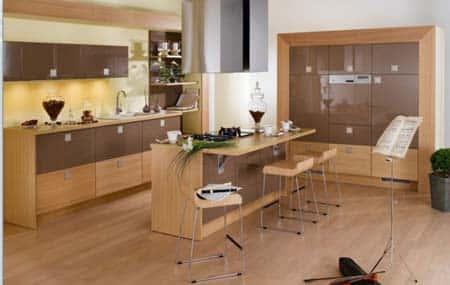 thiet ke bep dep 2 - Thiết kế nội thất bếp - Ý tưởng táo bạo để khẳng định đẳng cấp