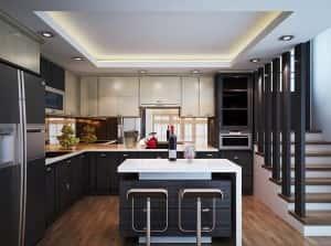thiet ke bep dep anh son 1 300x223 - Thiết kế nội thất bếp - Ý tưởng táo bạo để khẳng định đẳng cấp