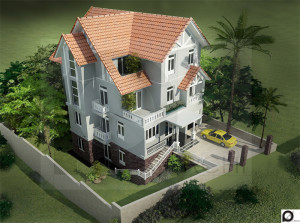 thiet ke biet thu dep 009á 300x223 - Tư vấn mẫu thiết kế biệt thự đẹp ở Đà Nẵng