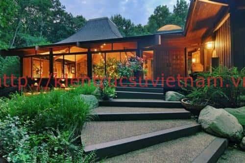 thiet ke biet thu phong cach nhat - Thiết kế biệt thự kiểu nhật đẹp có sân vườn
