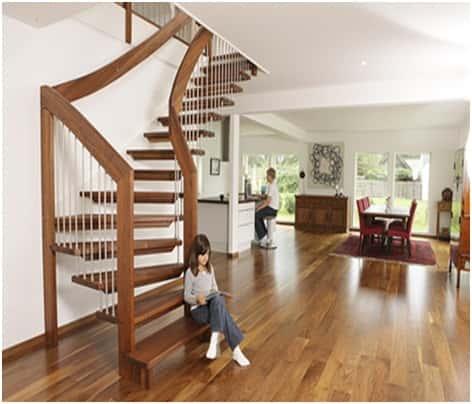thiet ke cau thang dep cau thang go 02  23291 std - Tổng hợp các mẫu thiết kế cầu thang đẹp hiện nay