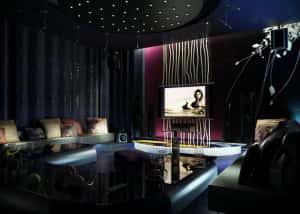 thiet ke karaoke 2 300x214 - Bộ sưu tập những mẫu thiết kế quán karaoke đẹp