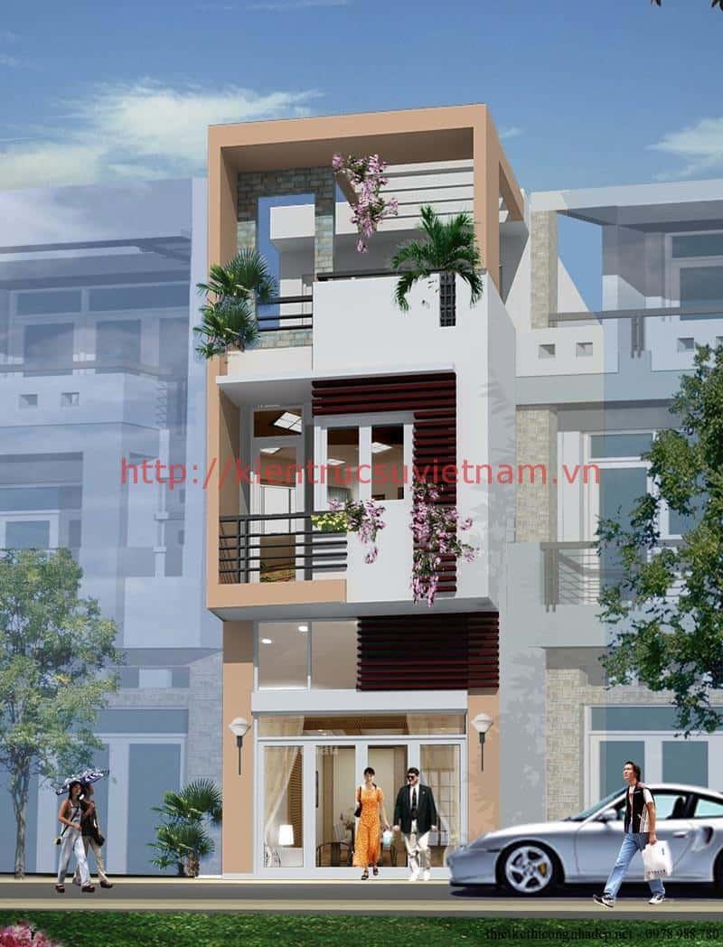thiet ke nha 3 tang 4x12m dep 1 - thiết kế nhà 3 tầng 4x12m