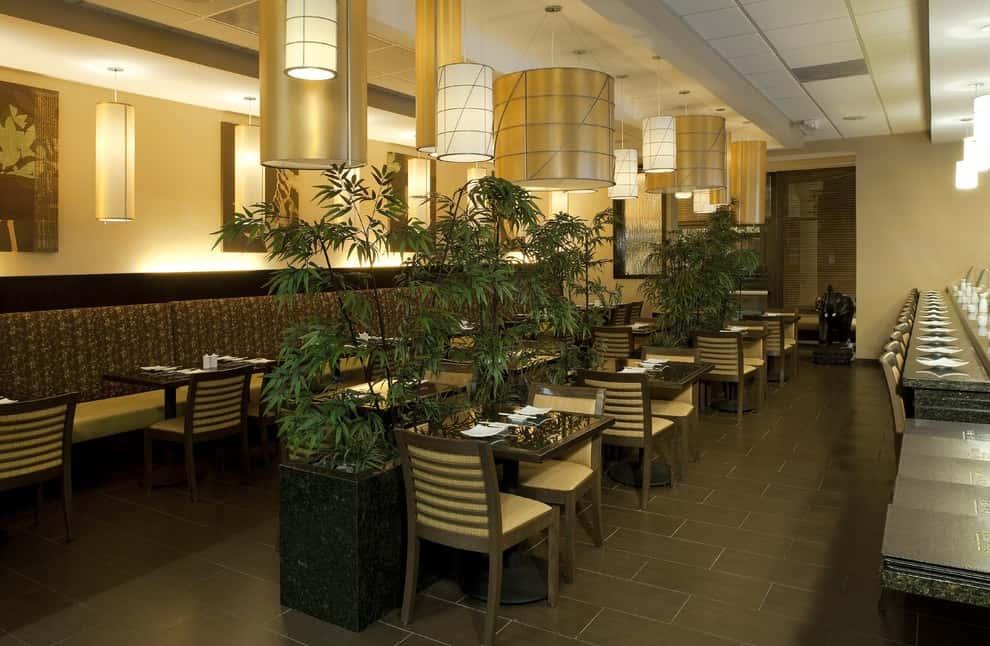 thiet ke nha hang dep ms04 - Thiết kế thi công nhà hàng đẹp sang trọng