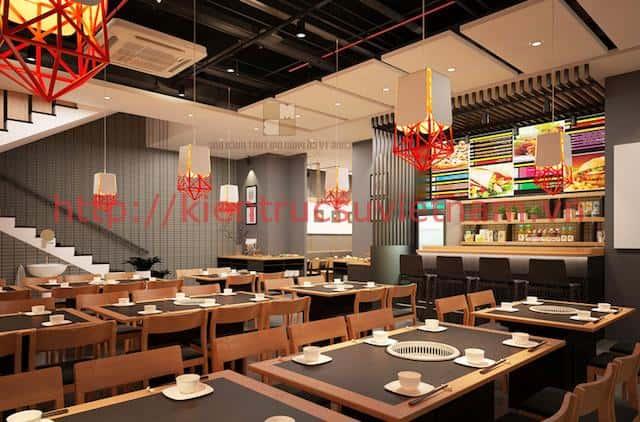 thiet ke nha hang han quoc 1 - Thiết kế và thi công nhà hàng phong cách Hàn Quốc
