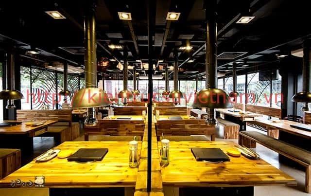 thiet ke nha hang han quoc 2 - Thiết kế và thi công nhà hàng phong cách Hàn Quốc
