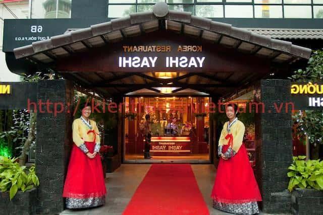 thiet ke nha hang han quoc 4 - Thiết kế và thi công nhà hàng phong cách Hàn Quốc