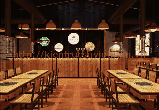 thiet ke nha hang han quoc 5 - Thiết kế thi công nhà hàng đẹp sang trọng