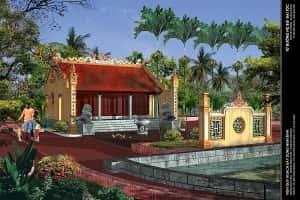 thiet ke nha tho ho 100v 300x200 - Mẫu nhà thờ họ tộc đẹp