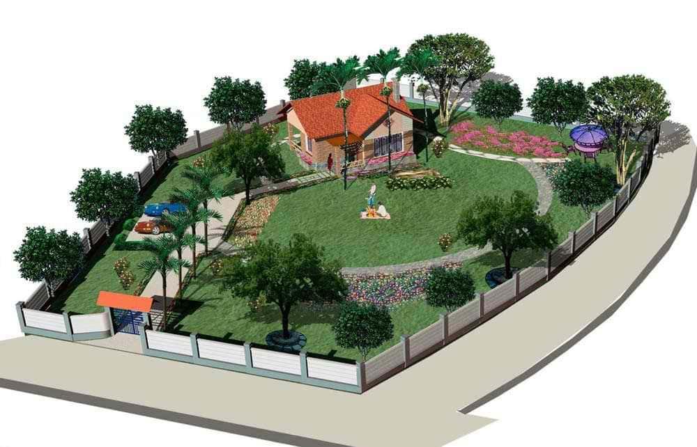 thiet ke nha vuon tu 1 - Thiết kế nhà vườn đẹp