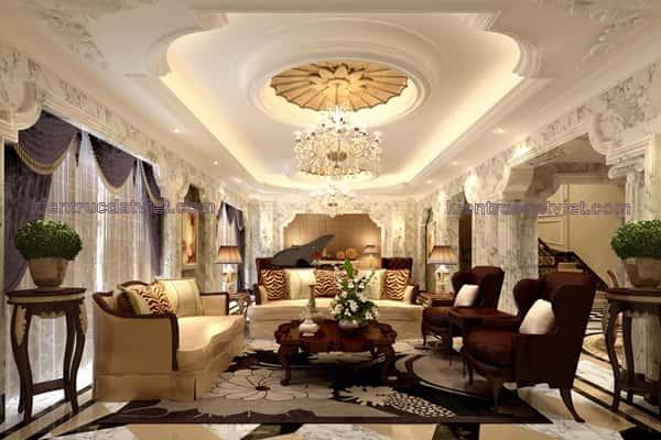 thiet ke noi that biet thu 003 - Tư vấn thiết kế nội thất biệt thự đẹp mang phong cách Châu Âu
