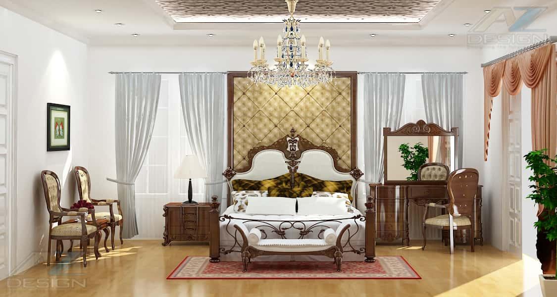 thiet ke noi that biet thu 04 - Tư vấn thiết kế nội thất biệt thự đẹp mang phong cách Châu Âu