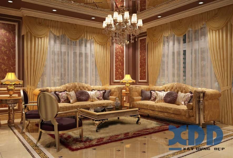 thiet ke noi that biet thu 086 - Tư vấn thiết kế nội thất biệt thự đẹp mang phong cách Châu Âu