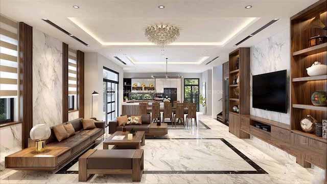 thiet ke noi that biet thu 3 - Thiết kế nội thất phòng khách biệt thự đẹp sang trọng cao cấp