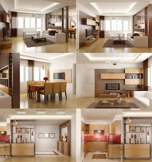 thiet ke noi that chung cu sda - Thiết kế thi công nội thất căn hộ chung cư đẹp