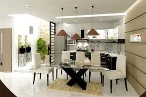 thiet ke noi that nha bep5 300x200 - Thiết kế nội thất bếp - Ý tưởng táo bạo để khẳng định đẳng cấp