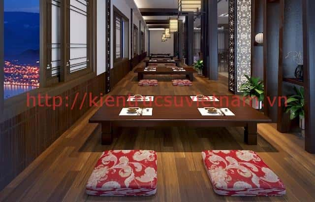 thiet ke noi that nha hang han quoc khong gian mo4 - Thiết kế và thi công nhà hàng phong cách Hàn Quốc