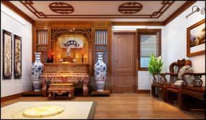 thiet ke noi that phong tho ong nam 300x176 - Thiết kế nội thất phòng thờ