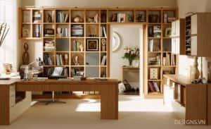 thiet ke phong doc sach 1b 300x183 - Tư vấn thiết kế phòng làm việc kết hợp với đọc sách