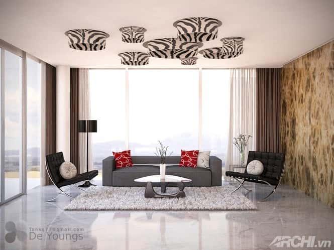 thiet ke phong khach an tuong 2 - Thiết kế nội thất phòng khách đẹp