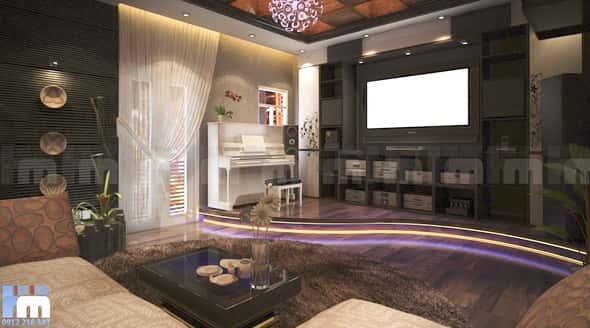 thiet ke phong khach anh binh 3 - Thiết kế nội thất phòng khách đẹp