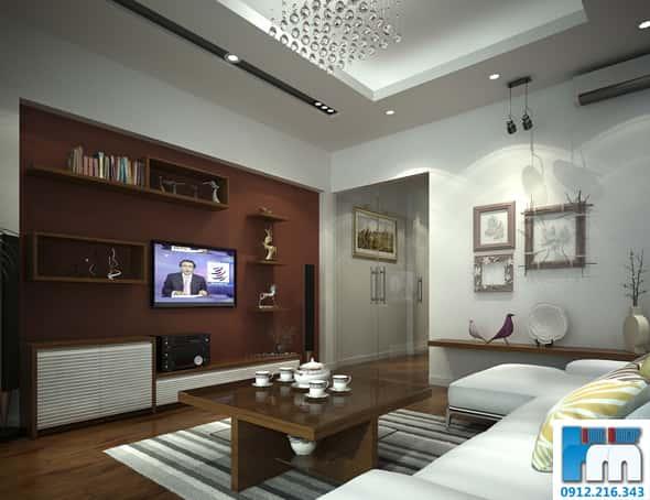thiet ke phong khach nha pho 5 tang 2 1 - Thiết kế nội thất phòng khách đẹp