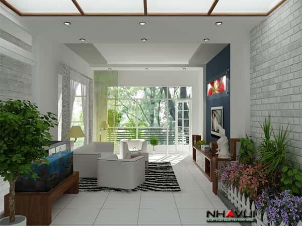 thiet ke phong khach trong nha pho - Thiết kế nội thất phòng khách đẹp