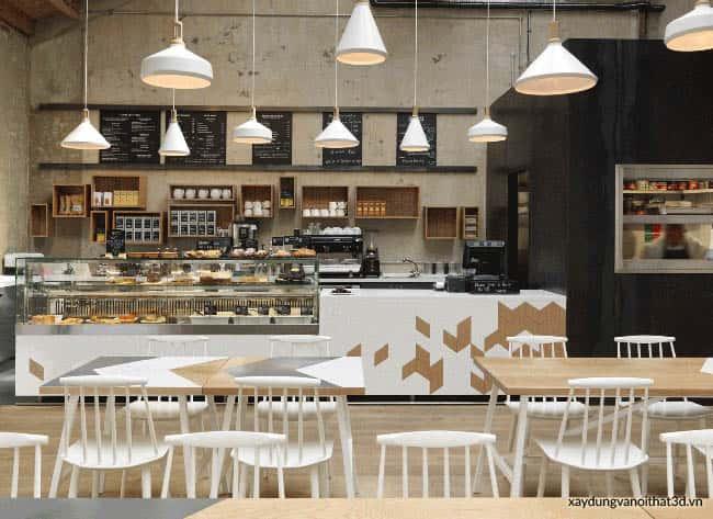 thiet ke quan cafe 1 - Bộ sưu tập những mẫu thiết kế quán cafe đẹp