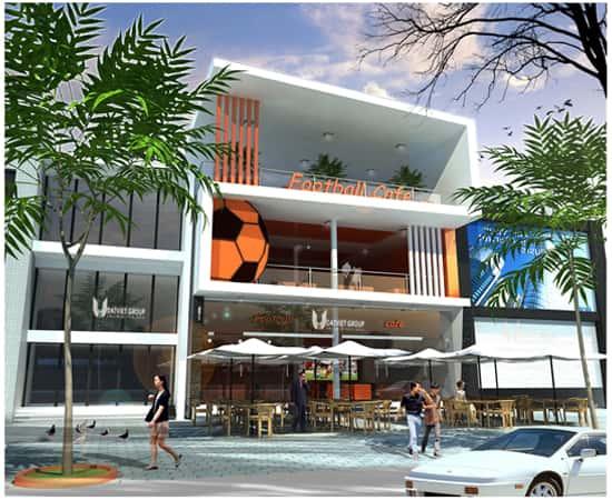 thiet ke quan cafe dep 001tr - Các dự án thiết kế quán cafe phong cách hiện đại đã thực hiện