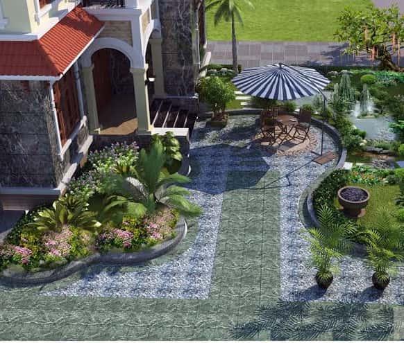 thiet ke tieu canh san vuon biet thu svbt14121 2 - Tư vấn thiết kế sân vườn tiểu cảnh hòn non bộ đẳng cấp