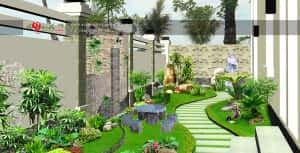 thiet ke tieu canh san vuon1 300x153 - Tư vấn thiết kế sân vườn tiểu cảnh hòn non bộ đẳng cấp