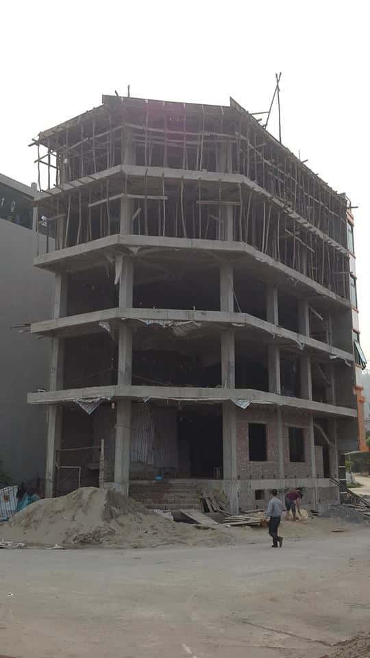 Thi công nhà 2 mặt tiền 9 tầng chú Tâm Phú Diễn, Hà Nội