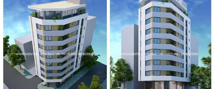 Dự án thiết kế nhà Nhà Chú Tâm 9 tầng Quận Bắc Từ Liêm
