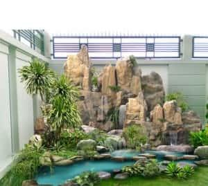 thietke sanvuon tieu canh 300x269 - Tư vấn thiết kế sân vườn tiểu cảnh hòn non bộ đẳng cấp