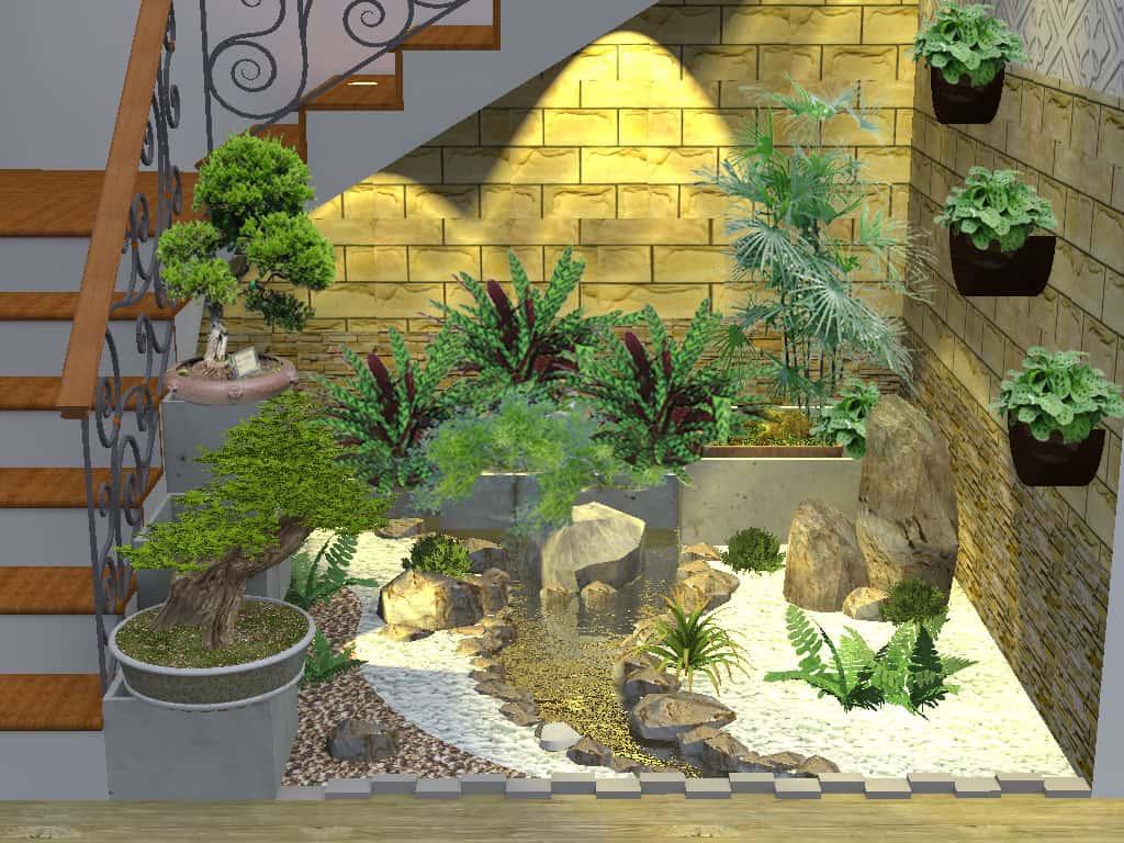 tieucanh khocauthang - Tư vấn thiết kế sân vườn tiểu cảnh hòn non bộ đẳng cấp