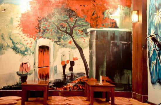tranh tuong cafe acoustic - Vẽ tranh tường quán Cafe
