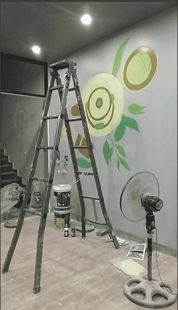 tranh tuong dep - Vẽ tranh tường quán Cafe