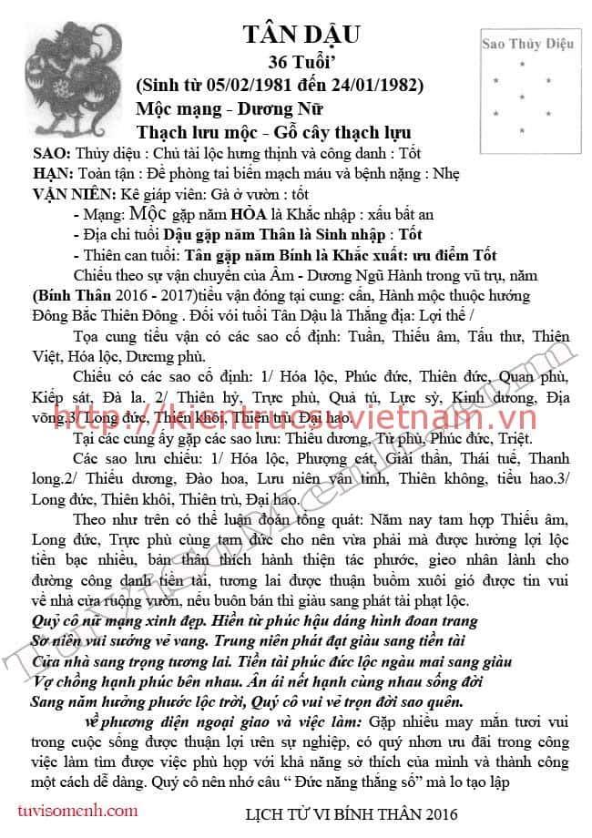tu vi 2016 tan dau nu mang 11 - Tử vi tuổi Tân Dậu 1981 nữ + nam