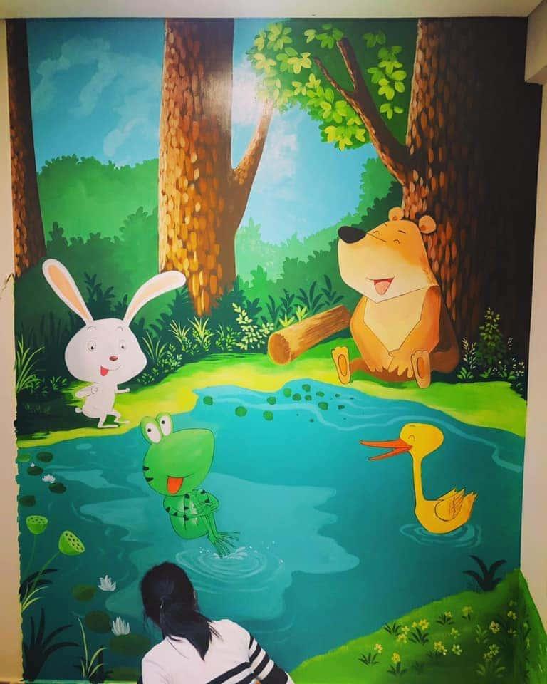 ve tranh tuong dep 16 - Vẽ tranh tường tại Hà Nội