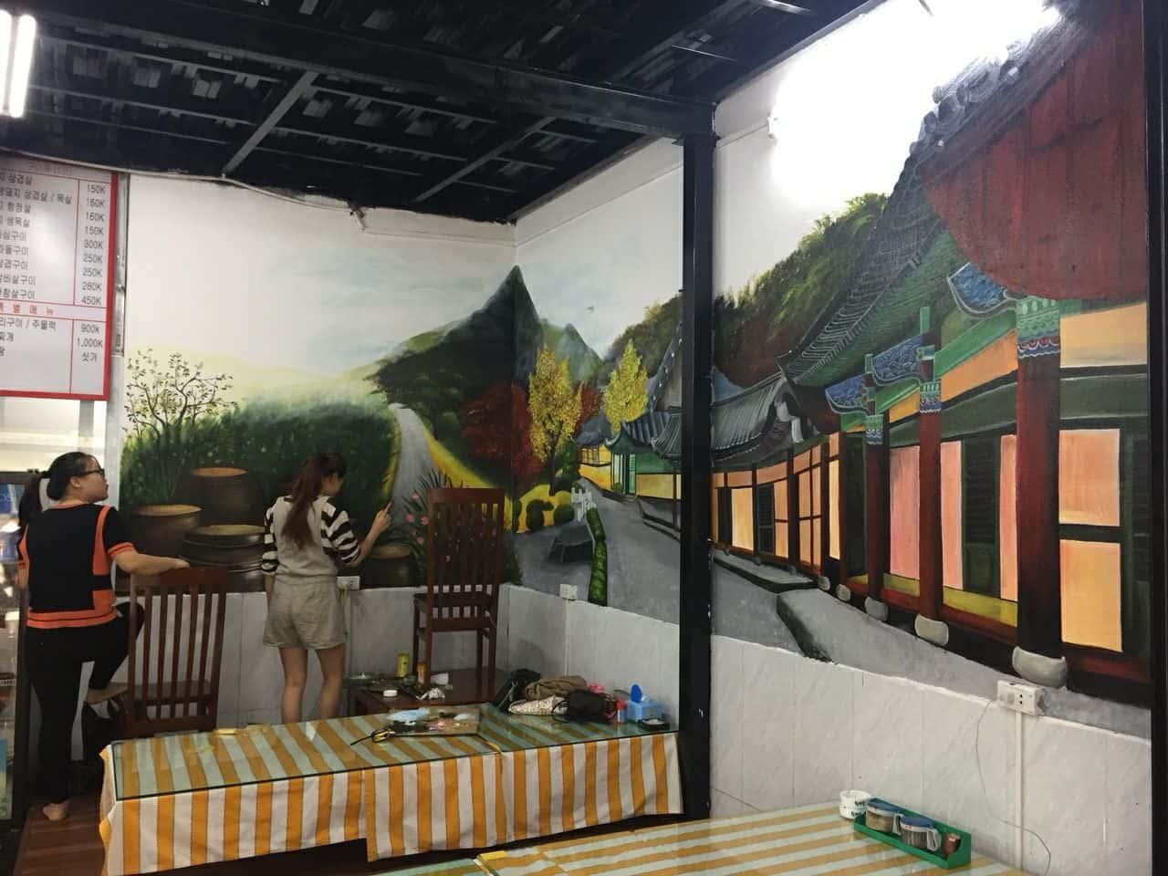 ve tranh tuong dep 23 - Vẽ tranh tường tại Hà Nội