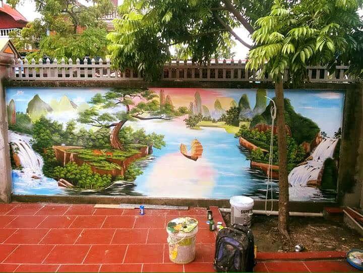 ve tranh tuong dep 24 - Vẽ tranh tường tại Hà Nội