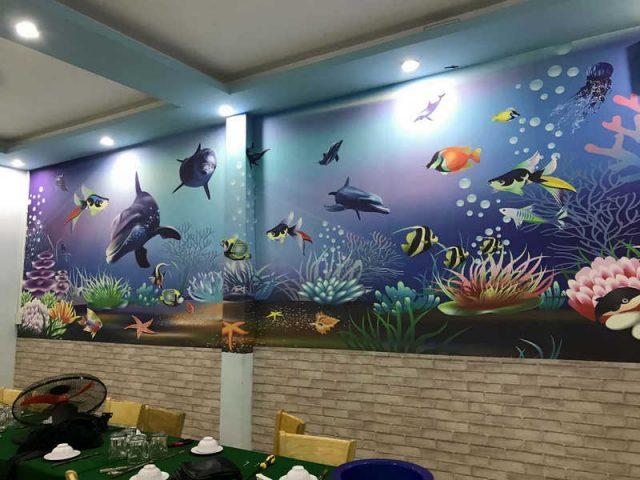 ve tranh tuong dep 49 e1619110349740 - Vẽ tranh tường quán Cafe 2d, 3d cực đẹp theo yêu cầu đảm bảo tiến độ