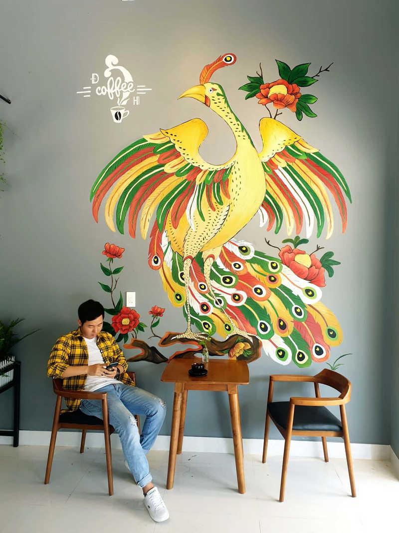 ve tranh tuong dep 9 - Vẽ tranh tường quán Cafe