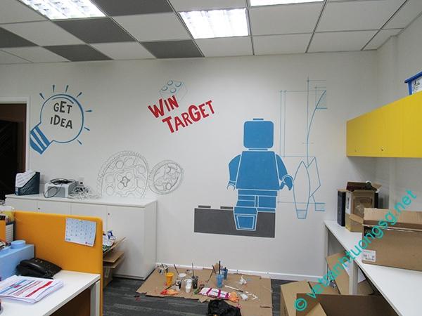 ve tranh tuong dep van phòng tranh tuong trang tri van phong dep 1 - Vẽ tranh tường văn phòng đẹp