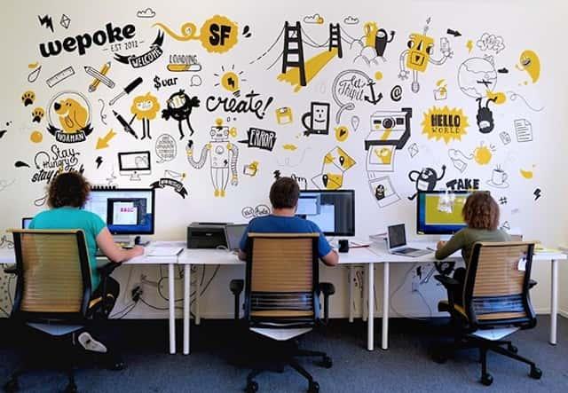 ve tranh tuong van phong 1 - Vẽ tranh tường văn phòng đẹp